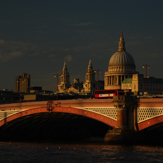 """Blackfriars Bridge & St Paul's Cathedral"" stock image"