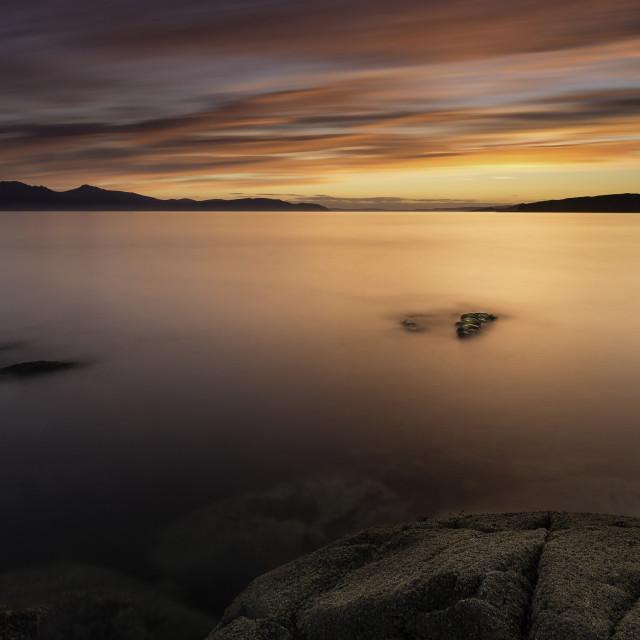 """Arran Sunset"" stock image"