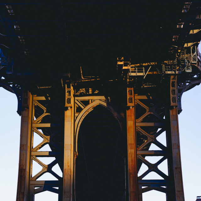 """Under the Manhattan Bridge"" stock image"