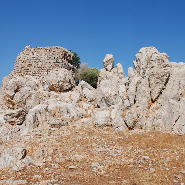 """Crusader Knights castle, Tilos"" stock image"