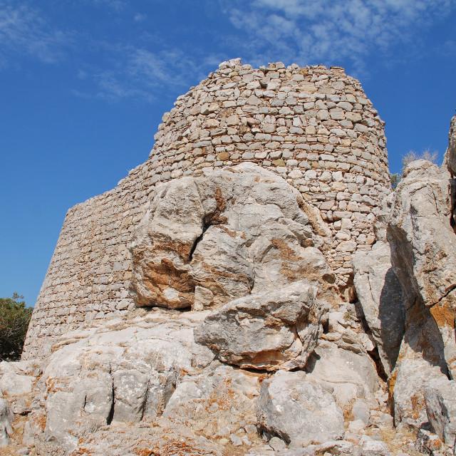 """""""Tilos island Crusader castle"""" stock image"""