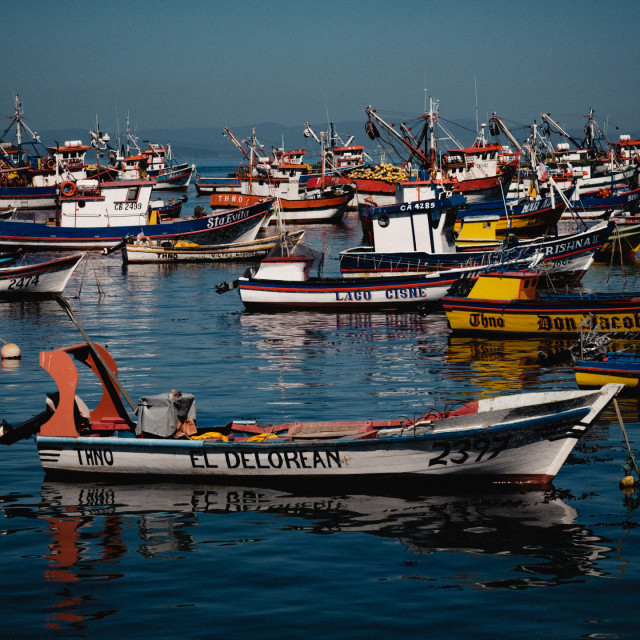 """Chilean Fishing Boats"" stock image"