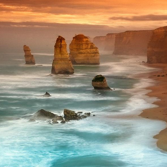 """The Gorgeous landscape of Twelve Apostles in Victoria Australia"" stock image"
