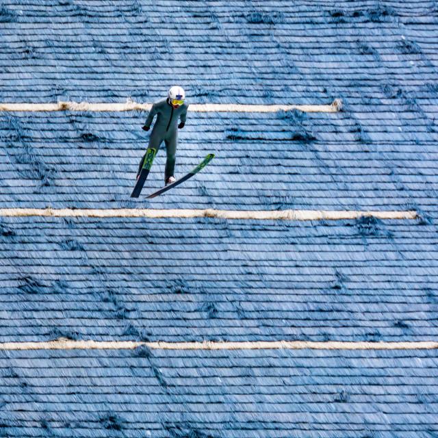 """""""Ski jumping in Trondheim Norway"""" stock image"""