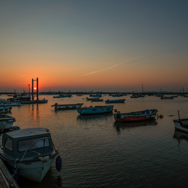 """Sunset Off West Mersea Island"" stock image"