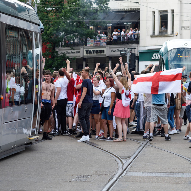 """Sweden v England, FIFA World Cup,Nottingham,UK."" stock image"