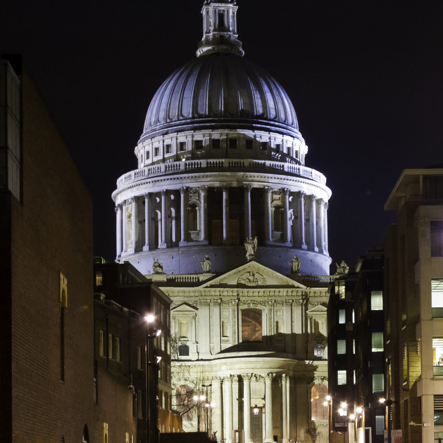 """St Paul's Cathedral in twilight"" stock image"
