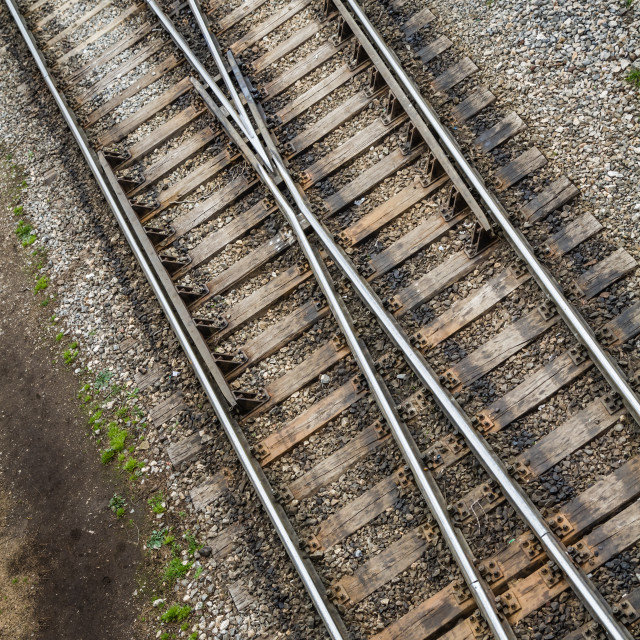 """""""Switch and Frog Arrangement of a Railroad"""" stock image"""