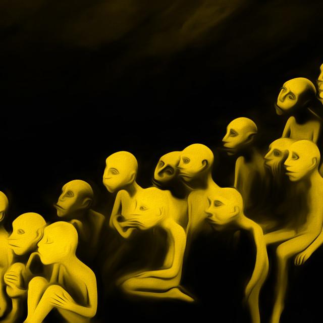 """Show Time Temptation: Contemporary Art"" stock image"