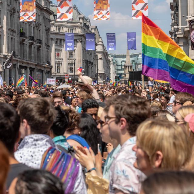 """Pride in London parade 2018"" stock image"