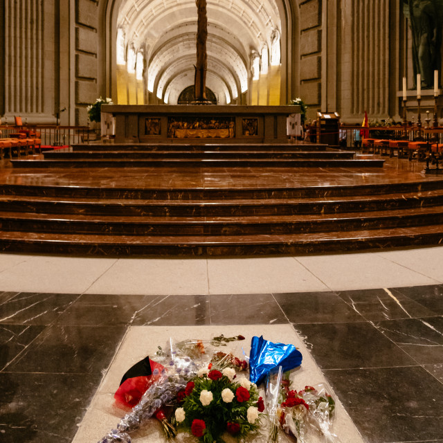 """""""Interior view of the Basilica of The Valley of the Fallen in Spa"""" stock image"""