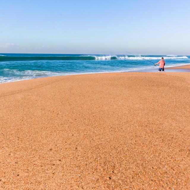 """Fishing Ocean Beach Holiday"" stock image"