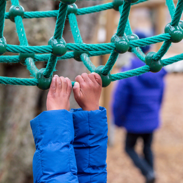 """""""Playground Climbing Equipment"""" stock image"""