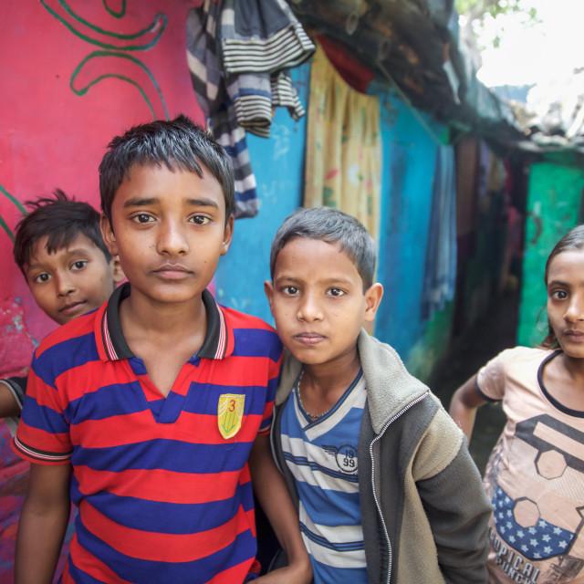 """""""Slums of Kolkata - India 97I"""" stock image"""