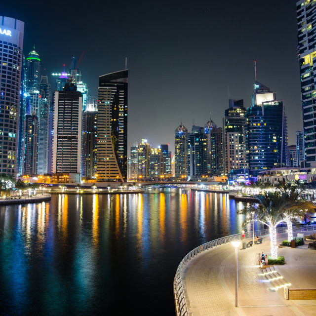 """Dubai, United Arab Emirates - June 6, 2018: Dubai marina modern"" stock image"