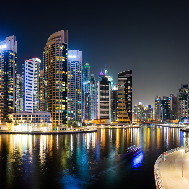 """Dubai, United Arab Emirates - June 6, 2018: Panorama of Dubai ma"" stock image"