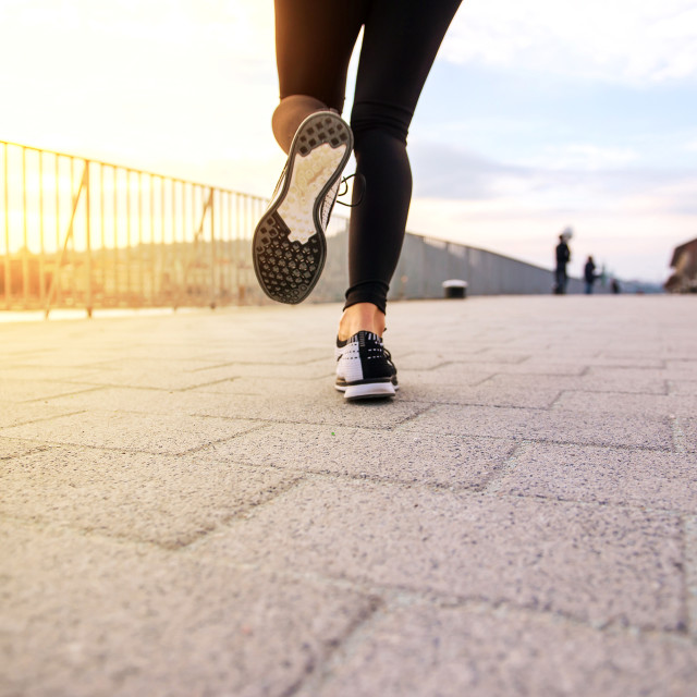 """""""Legs of a jogging woman"""" stock image"""