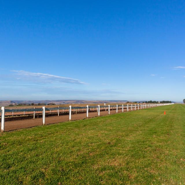 """""""Race Horse Training Tracks"""" stock image"""
