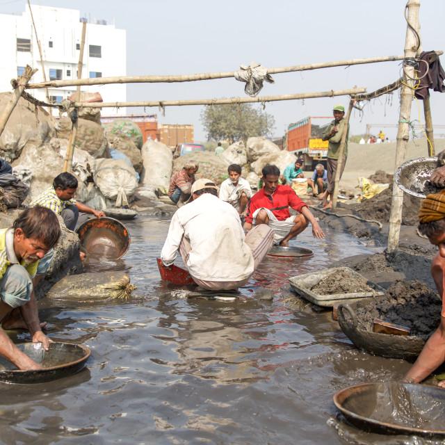 """""""Gold Hunter in Kolkata - India"""" stock image"""