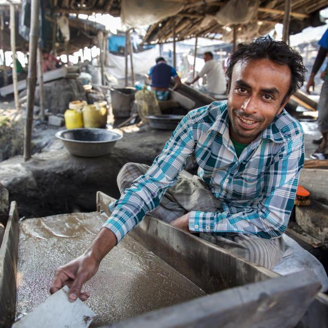 """""""Gold Hunter in Kolkata - India XVIII"""" stock image"""