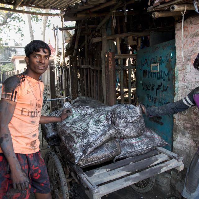"""""""Gold Hunter in Kolkata - India LV"""" stock image"""