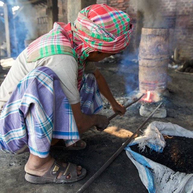 """""""Gold Hunter in Kolkata - India LVI"""" stock image"""