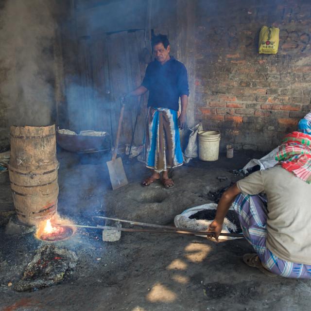 """""""Gold Hunter in Kolkata - India LXIII"""" stock image"""