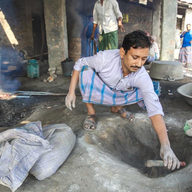 """""""Gold Hunter in Kolkata - India LXV"""" stock image"""