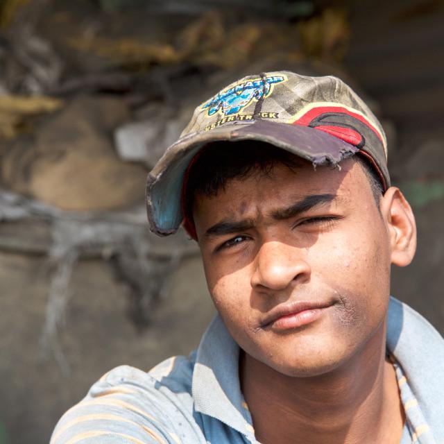 """""""Gold Hunter in Kolkata - India LXXIV"""" stock image"""