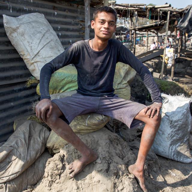 """""""Gold Hunter in Kolkata - India LXXV"""" stock image"""