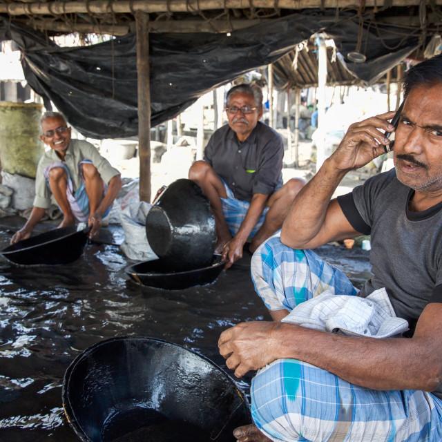 """""""Gold Hunter in Kolkata - India LXXVI"""" stock image"""