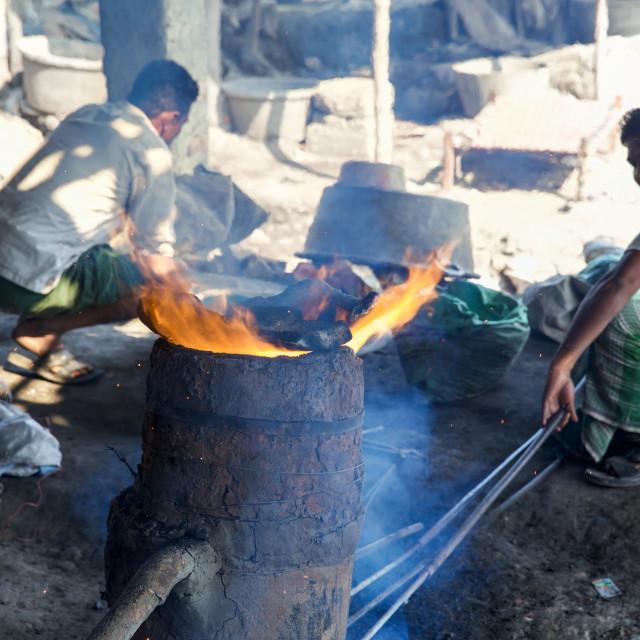"""""""Gold Hunter in Kolkata - India LXXIX"""" stock image"""
