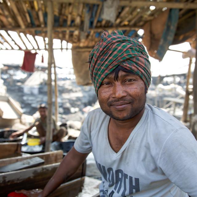 """""""Gold Hunter in Kolkata - India LXXXVII"""" stock image"""