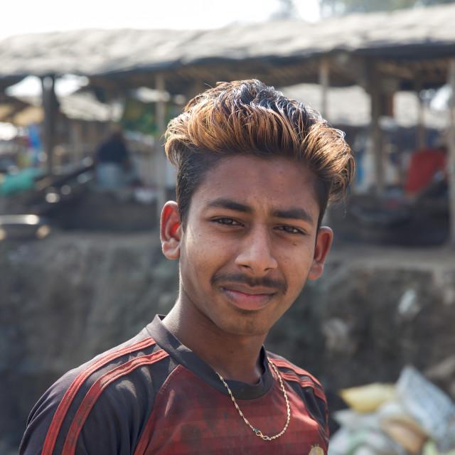 """Gold Hunter in Kolkata - India LXXXVIII"" stock image"