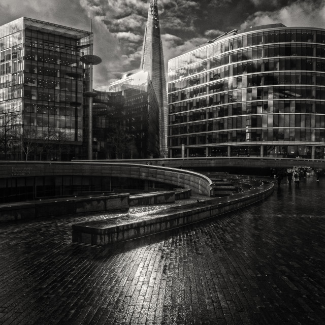 """""""Lines To The london Shard"""" stock image"""