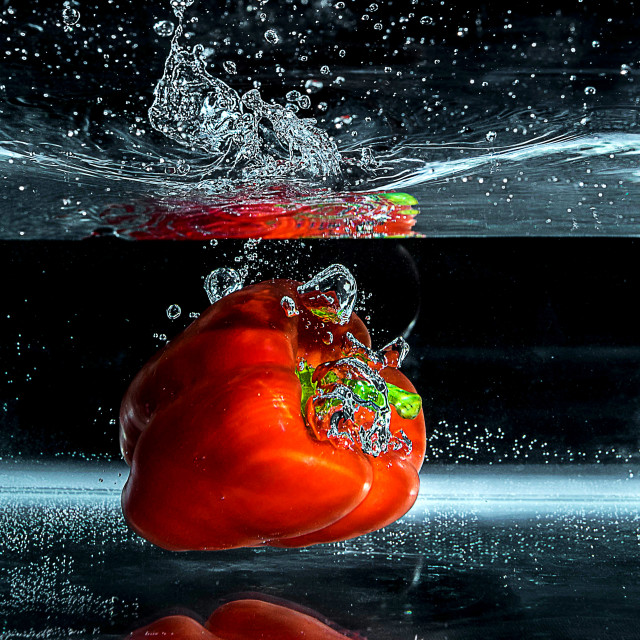 """Red Pepper Dive_1"" stock image"