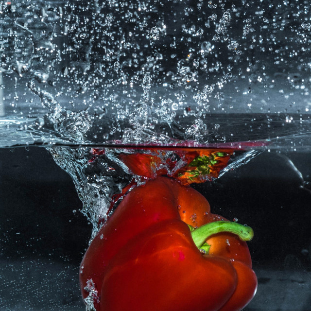 """Red Pepper Dive_3"" stock image"
