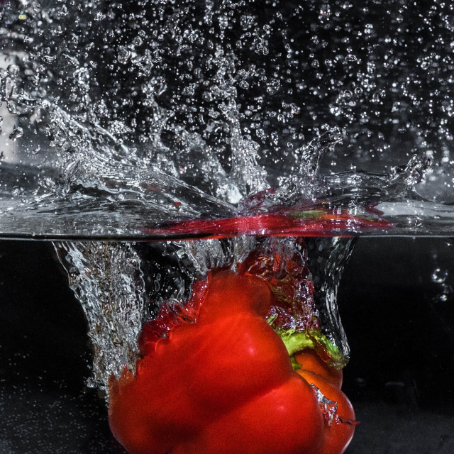 """Red Pepper Dive_2"" stock image"