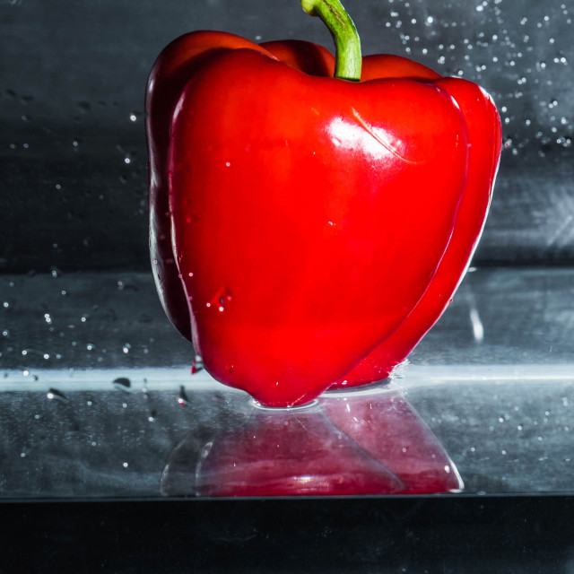 """Red Pepper Dive_4"" stock image"