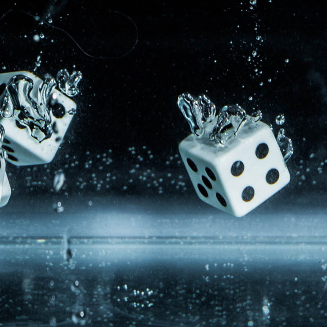 """Four dice dive_2"" stock image"