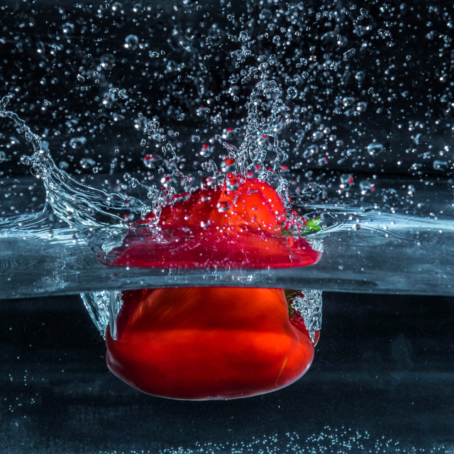 """Red Pepper Dive_8"" stock image"