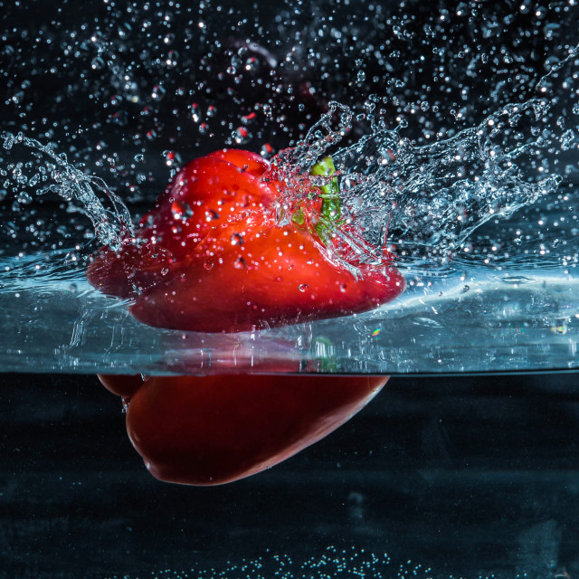 """Red Pepper Dive_6"" stock image"