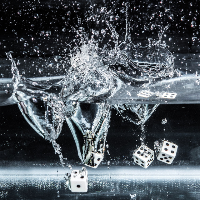 """For dice dive"" stock image"