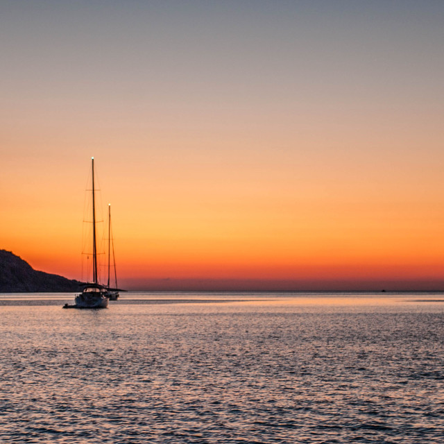 """Sunrise a Elounda"" stock image"