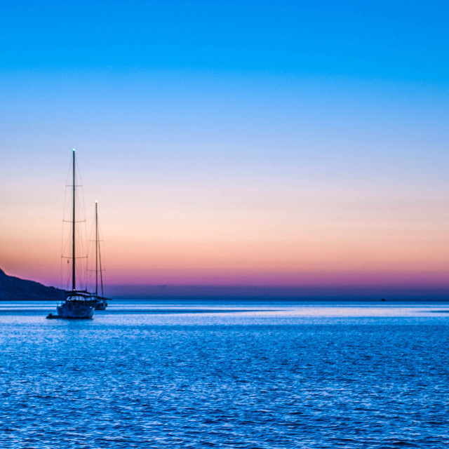 """Dawn at Elounda"" stock image"