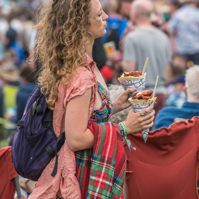 """Fast food at Glastonbury"" stock image"