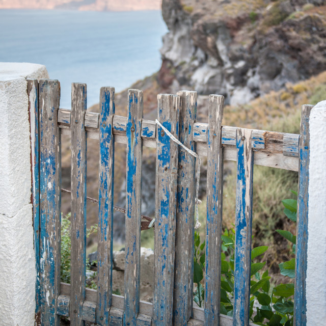 """Weathered gate"" stock image"
