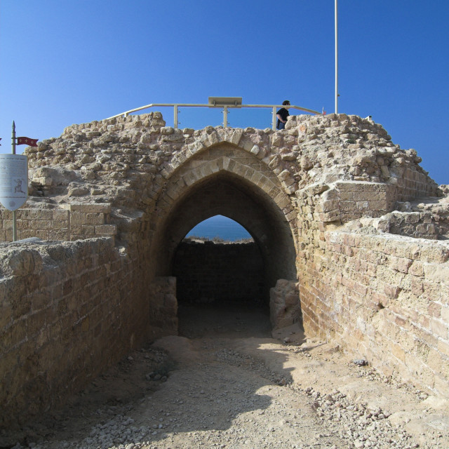 """""""The remains of the old fort of Apolonia, Herzelia, Israel"""" stock image"""