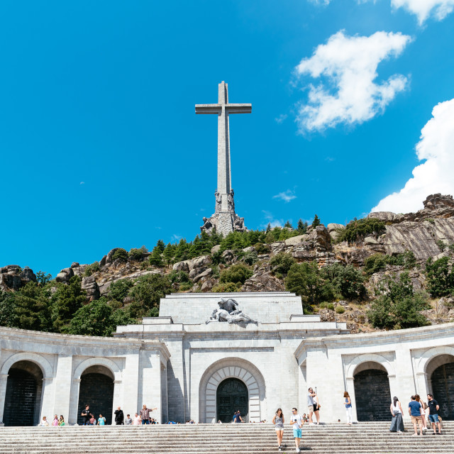 """""""Valley of the Fallen in Spain"""" stock image"""