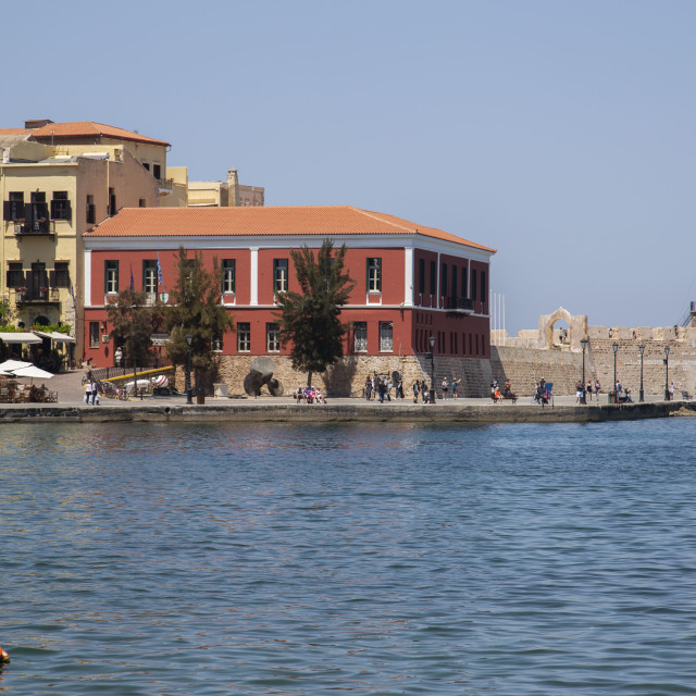"""""""Navy Museum at Chania Harbour"""" stock image"""